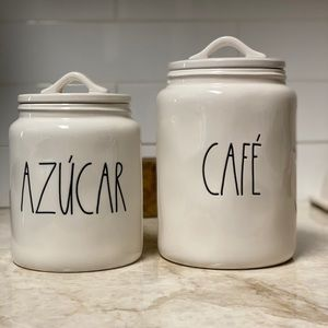 Rae Dunn Azucar and Cafe Spanish Canisters